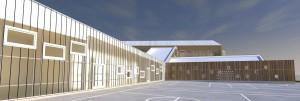 Anbau der schule in Sokolovec