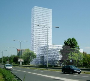Business tower in Zagreb